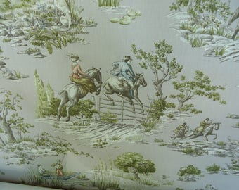 """P.Kaufmann """"Sinclair Dew"""" EQUESTRIAN TOILE  Cotton, Sold by the yard"""