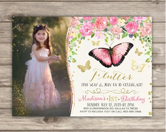 Butterfly Birthday Etsy - Butterfly birthday invitation images