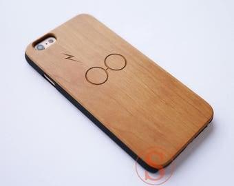 Harry Potter phone case, Wood iPhone 7 case, Wood iPhone 6S case, iPhone 6s plus case, Laser Engraved Wood iPhone 7 Plus case, KC-7