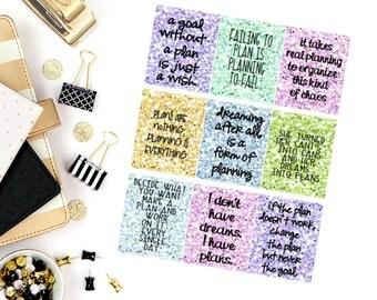 Planning Quotes Stickers! Perfect for your Erin Condren Life Planner, calendar, Paper Plum, Filofax!