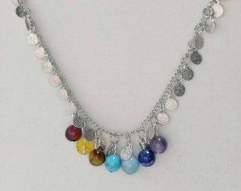 7 Chakra Handmade Necklace, 7 Chakra Beads, Handmade Chakra Jewelry, Chakra Necklace, Handmade Necklaces, Beaded Necklaces, Chakra Stones