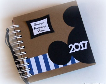 2018 80 pgs PERSONaLIZED -  Disney Autograph Book - Scrapbook - Travel Journal - Vacation - Photo Book -
