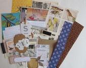 nature themed inspiration kit, nature ephemera pack, vintage nature ephemera