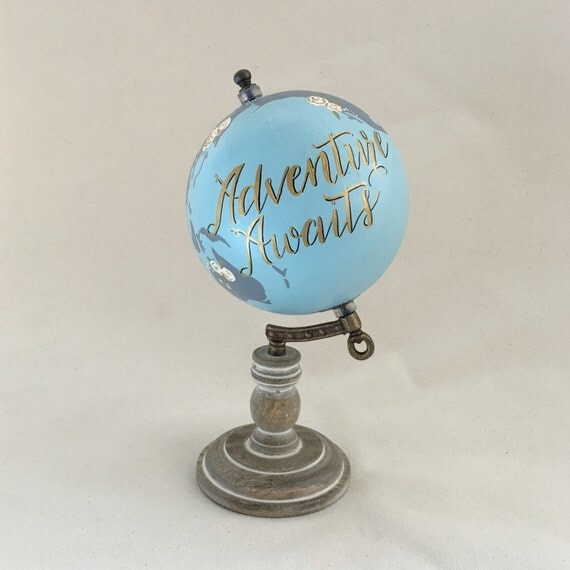 Small Globe Travel Quote Custom Globe Home Decor Nursery