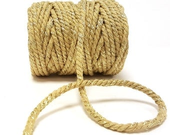 Gold Sparkle 5mm Chunky Bakers Twine *Sold Per Metre*