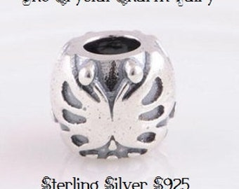 Authentic Sterling Silver Stamped S925 ~ MAJESTIC BUTTERFLY ~ European Charm Fits Big Hole / Large Hole / Pandora /Bracelets / Necklace