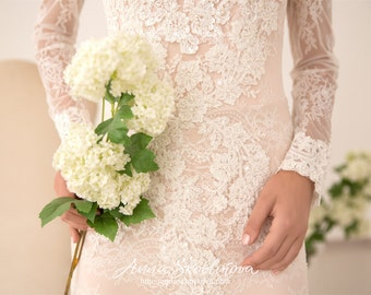 Blush wedding dress - Hand embroidered, Royal wedding dress, Wedding gown, Ball gown, Bridal gown, Ball gown dress, 0046 // 2017