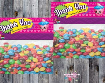INSTANT DOWNLOAD Shopkins/ Printable Treat Bag Topper