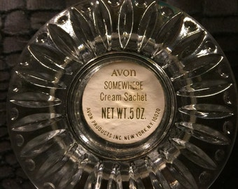 Avon Cut Glass Jar