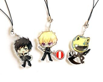 Double Sided Front & Back Charms with Phone Strap