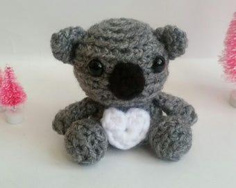 Crochet Koala Mini Amigurumi Koala Bear Stuffed Animal Bear Mini Pet Kawaii Chibi Gift Toy