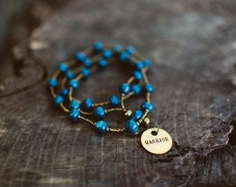Deep Sea Blue/Warrior Necklace