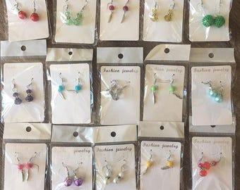 Ex Market Bulk Earrings - 15 Pairs Handmade Dangle Earrings - Wholesale Price - Mother's Day Gift