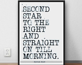 Peter Pan Quote - wall art poster print gift