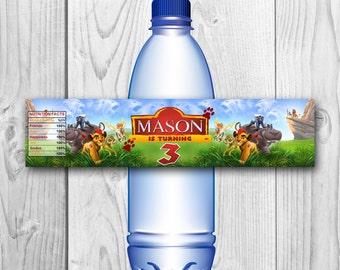 Lion Guard Bottle Labels - Lion Guard Water Label - Lion Guard Printables - Lion Guard Wrappers