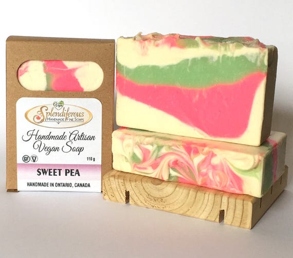 Sweet Pea Soap, Natural soap, handmade soap, vegan soap