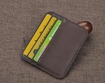 Ultrathin  leather Cards & Cash slim wallet cards holder wallet   mens women wallet unisex
