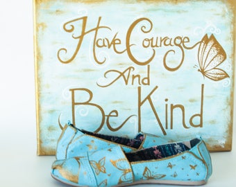 Cinderella Hand-lettered sign/Butterfly Scenery Shoe Bundle: This Bundle Sets Our Hearts Aflutter