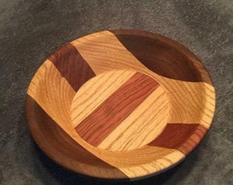 Handmade Woodturned Laminated Bowl