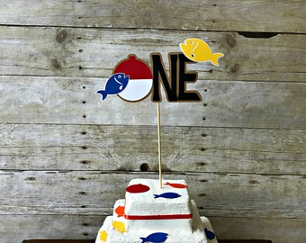 Fishing Cake Topper - gone fishing - the big one - party supplies