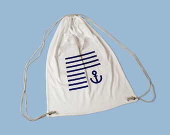 Sports in sailor cotton bag