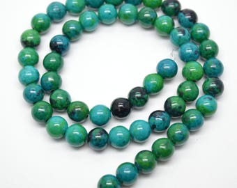 Synthetic Green Chrysocolla Stone Round Loose Beads DIY Jewelry Accessories 4mm 6mm 8mm 10mm 12mm 14mm