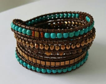 Leather Multi wrap bracelet