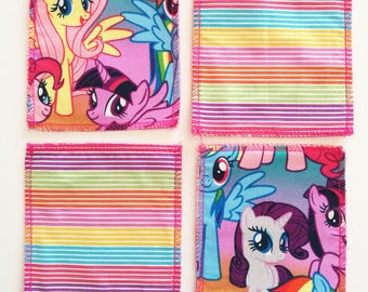 Cotton My Little Pony themed coasters