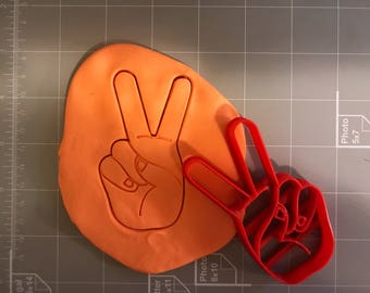 Victory/Peace Sign Cookie Cutter