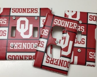 University of Oklahoma, OU Sooners, Light switch covers,light switch plate,outlet covers,outlet plates,home decor, wall art