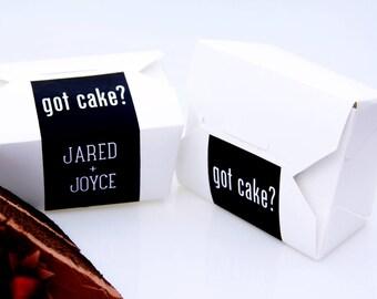 Cake Favor Box, Wedding Favor, To Go Box, Wedding Cake, Cake Box, Favor Box, Doughnut Box, Cookie Box, Cupcake Favor, Dessert Box, Label