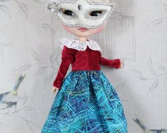 Dress/dress Carnival of Venice/mask/Mask of carnival for doll/doll Blythe, Pullip, Tangkou