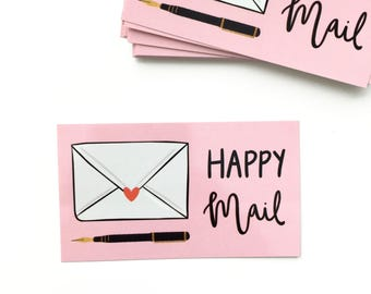 Happy Mail Stickers, 16 Stickers, Pretty Mail, Cute Packaging, Envelope Stickers
