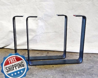 Furniture Legs Metal Contemporary flat steel legs   etsy