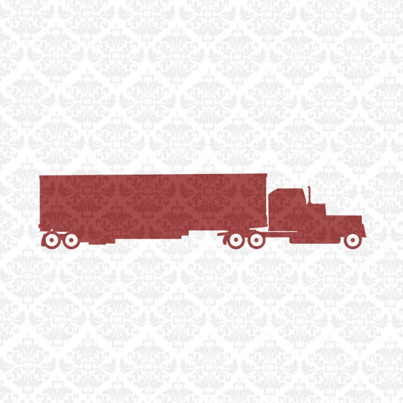 Semi Truck 18 Wheeler Driver cdl Driving Hauler SVG DXF Ai Eps PNG Scalable Vector Instant Downloal Commercial Cut File Cricut Silhouette