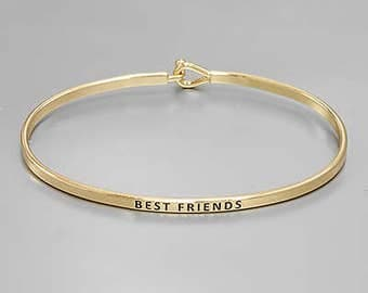 Best Friends Engraved Bangle