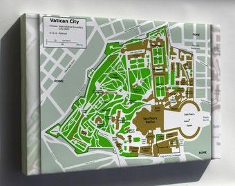 Canvas 24x36; Map Of Vatican City