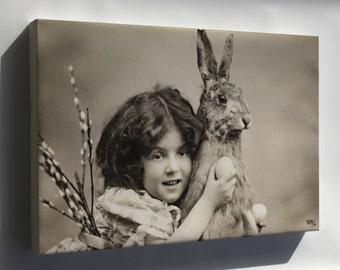 Canvas 24x36; Easter Rabbit 1907