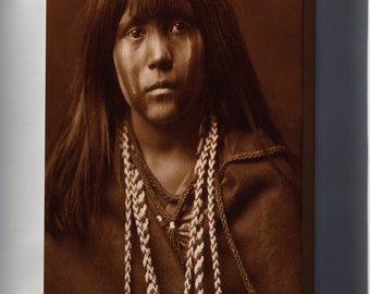 Canvas 24x36; Mojave Girl Native American Indian Girl 1903