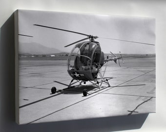 Canvas 24x36; Th-55 Osage Helicopter
