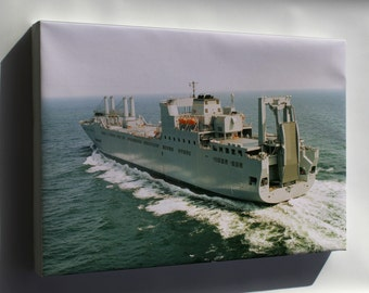 Canvas 16x24; Sea Trials Of Usns Benavidez (T-Akr-306)