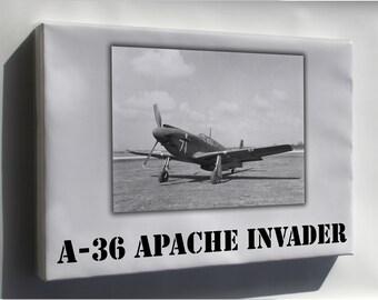 Canvas 16x24; A-36 Apache Invader
