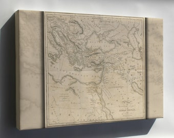 Canvas 16x24; Gibbon 1818 P2.518 Map Of The Eastern Part Of Roman Empire