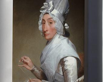 Canvas 16x24; Gilbert Stuart Catherine Brass Yates Mrs. Richard Yates