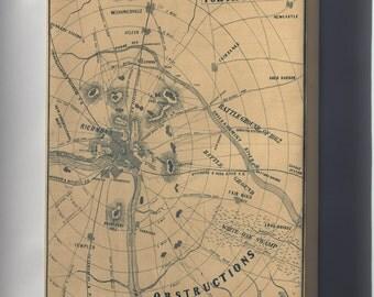 Canvas 16x24; Map Of Richmond Virginia 1864