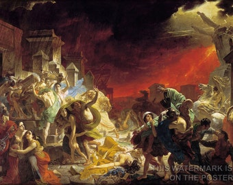 16x24 Poster; Last Day Of Pompeii By Karl Briullov