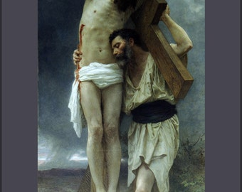 16x24 Poster; Compassion William-Adolphe Bouguereau (1825-1905) - Compassion (1897