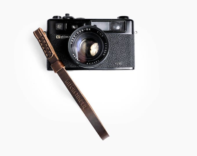 Leather Camera Wrist Strap  ~ Brown Nut Horween