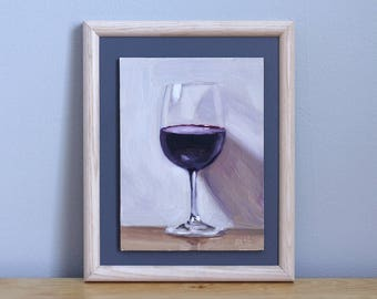 Wine Painting, Original Still Life Painting by Aleksey Vaynshteyn
