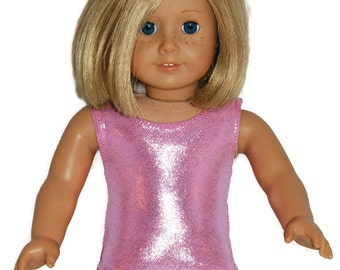 """Baby Pink Shiny Leotard - Doll Clothes fits 18"""" American Girl Dolls"""